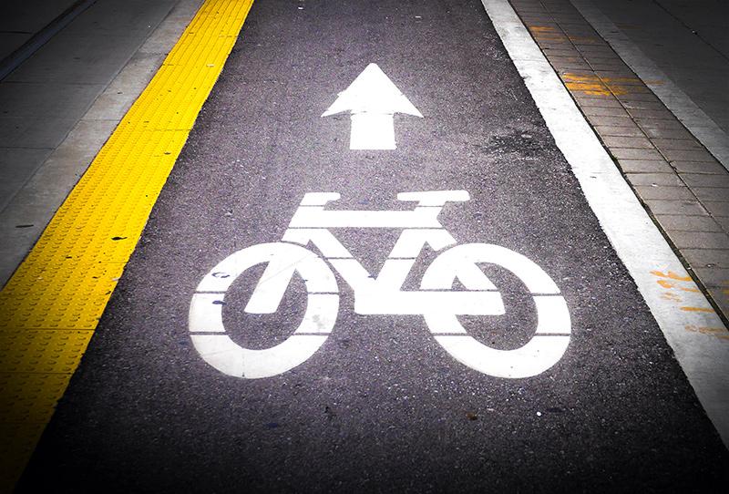 Bike sign in Roncesvalles