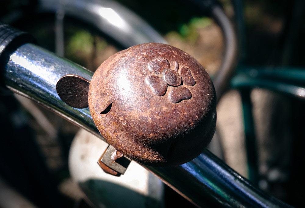 Vintage shamrock bicycle bell