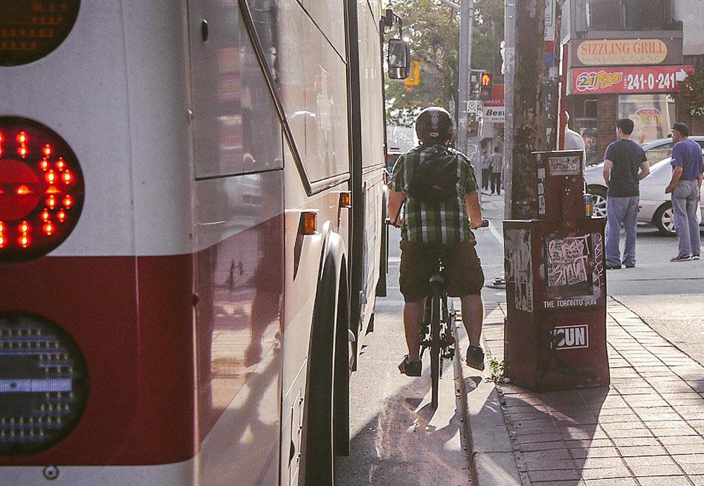 Biking along Queen Street West | Bike Toronto
