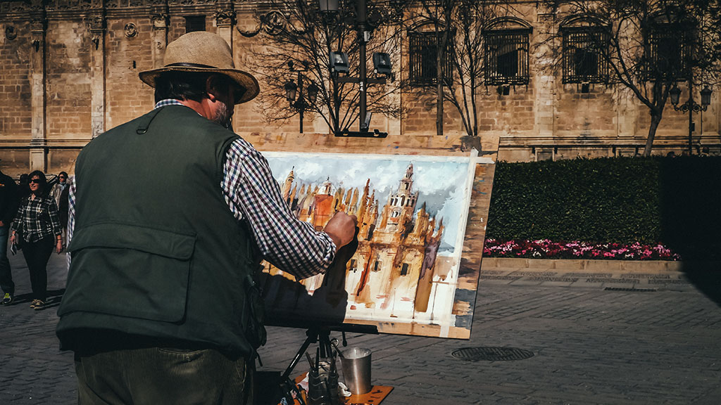 Painting in Seville