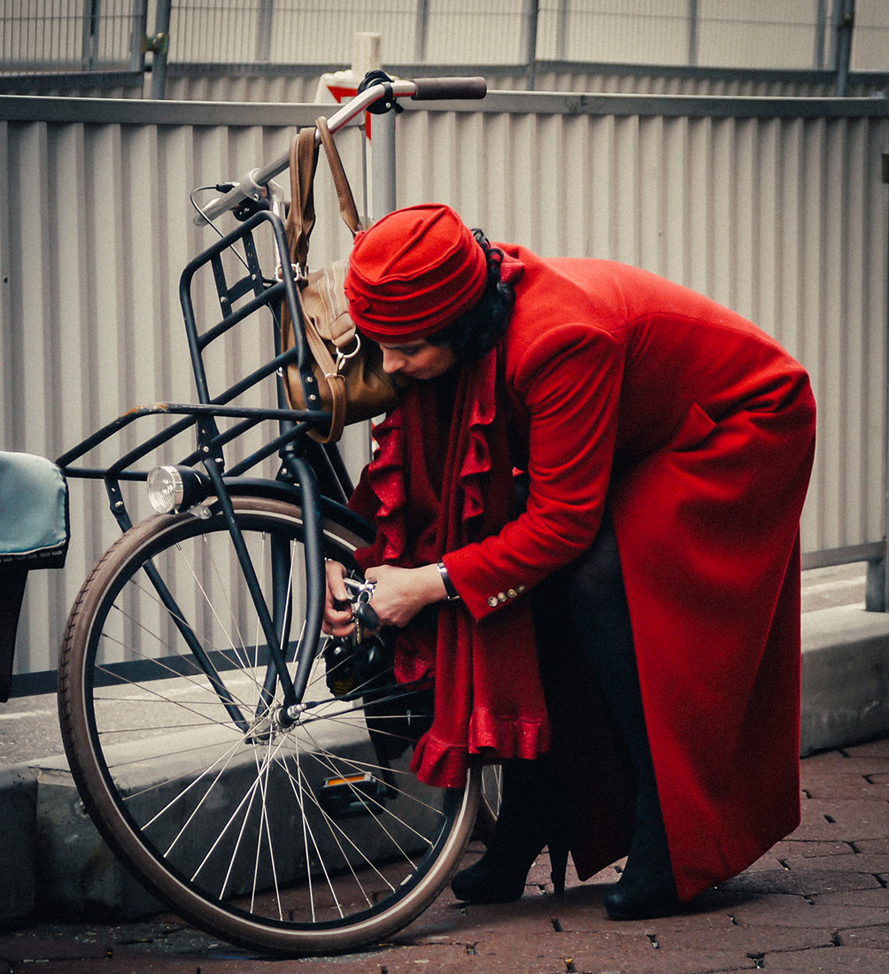 Regal Red | | Bicycle Chic Amsterdam
