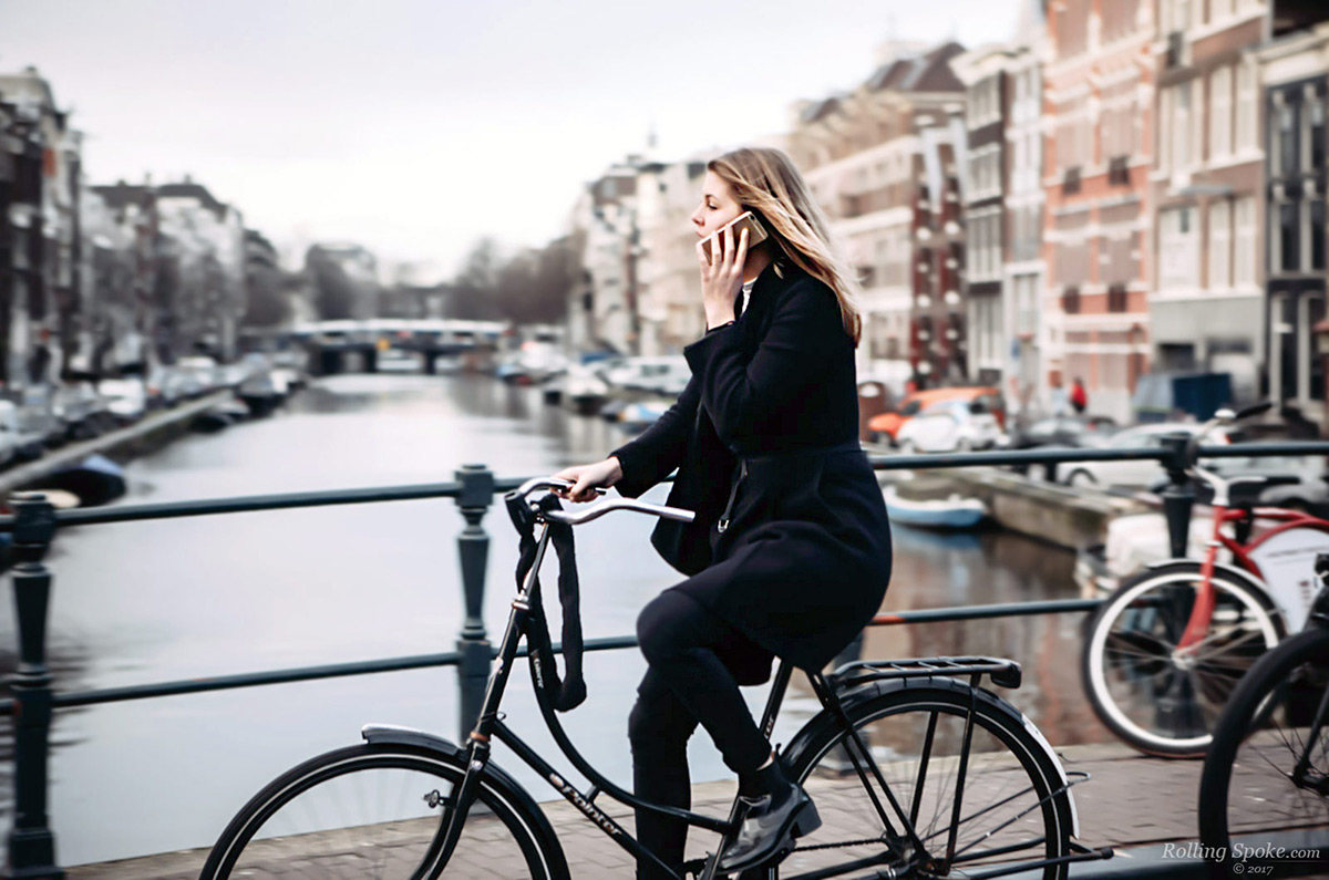 Cycling with phone