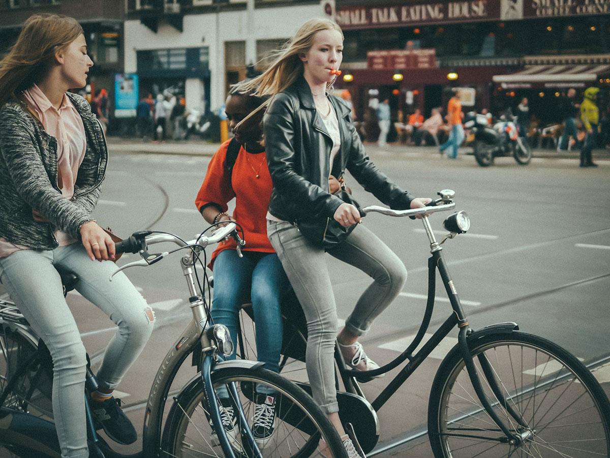 Two bikes, three friends