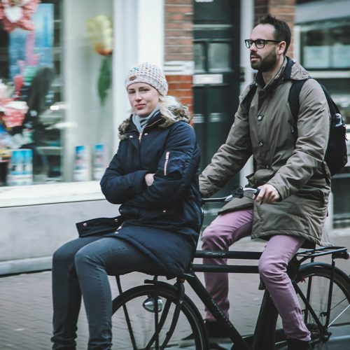 Casual Double Riding in Amsterdam