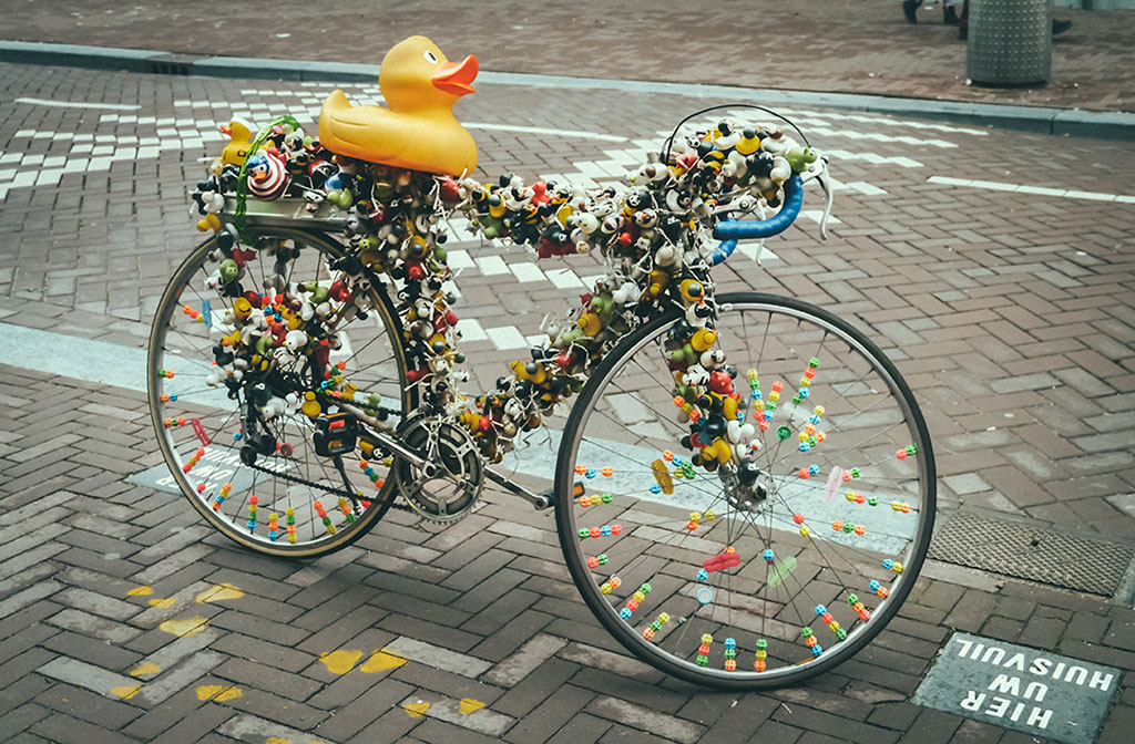 The most photographed bike in Amsterdam