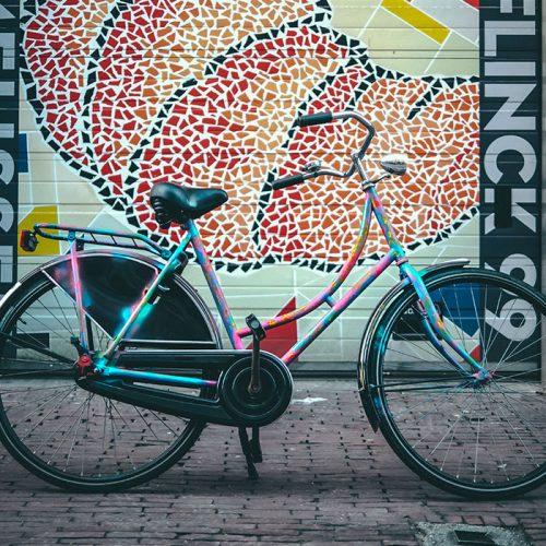 Painted bike street art