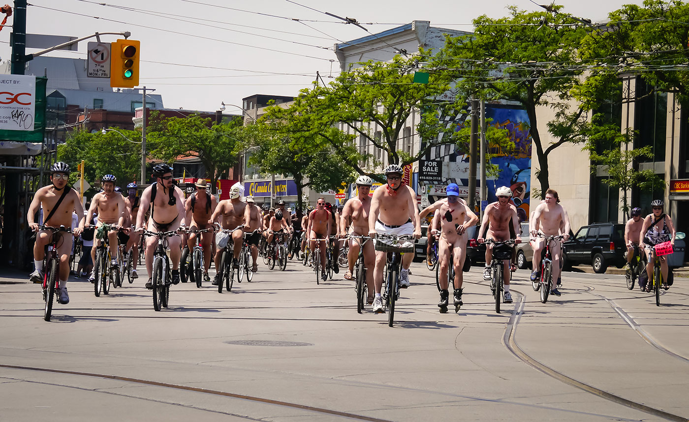 World Naked Bike Day in Toronto