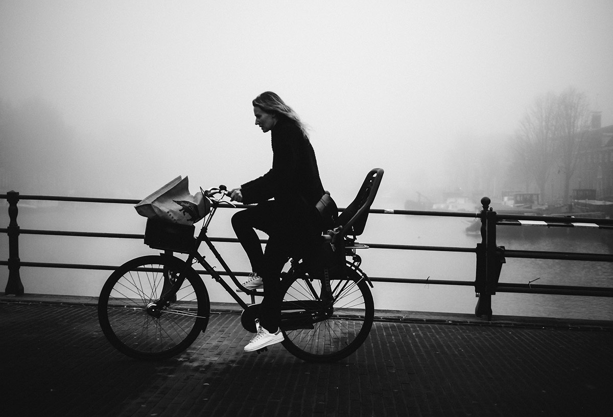 Fog Shoes | Bicycle Street Photography Amsterdam