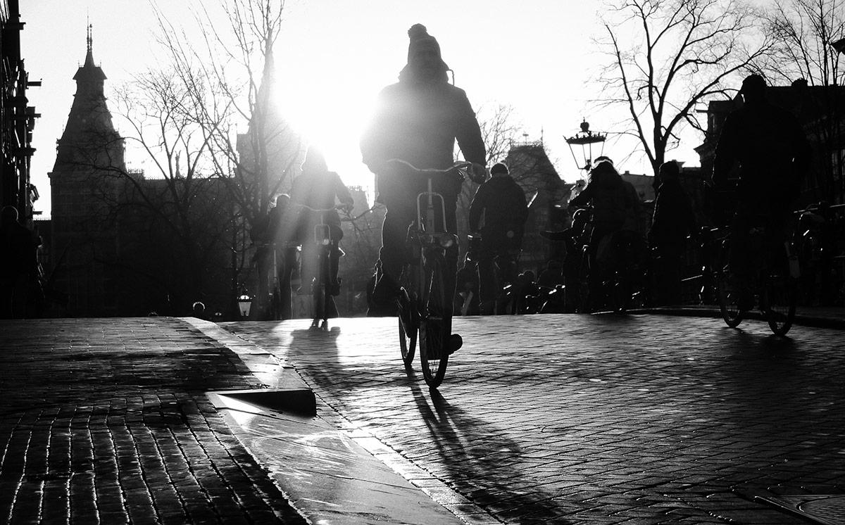 Winter Sun | Bicycle Street Photography Amsterdam