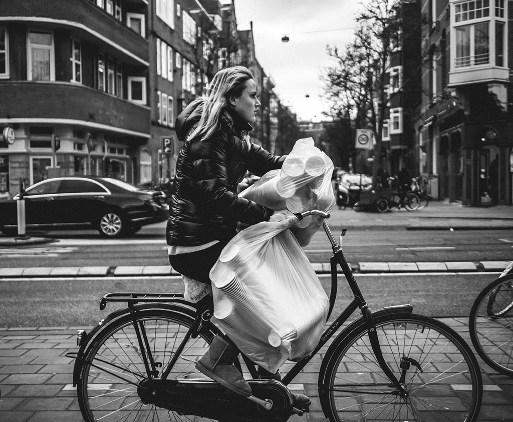 Party Prep | Bicycle Street Photography Amsterdam