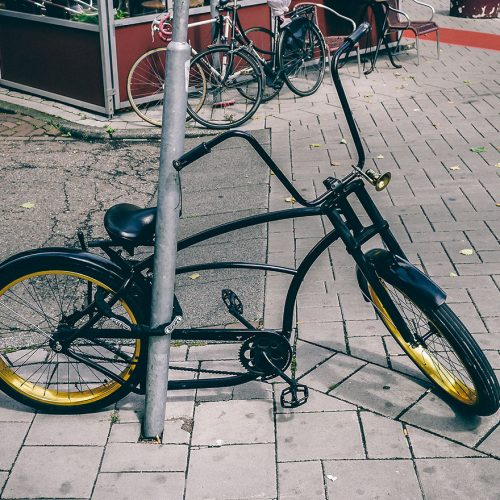 Lowrider with gold rims