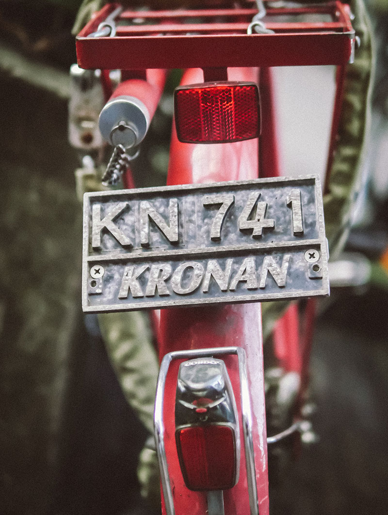 Kronan Bicycle plate number