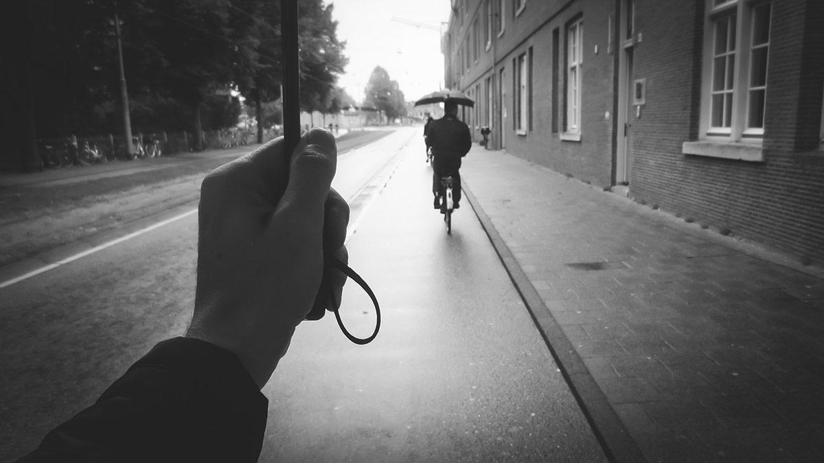 Umbrella Days   Bicycle Street Photography Amsterdam