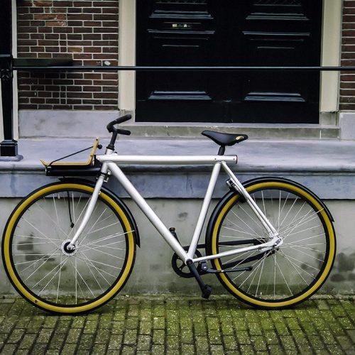Vanmoof bicycle in Amsterdam
