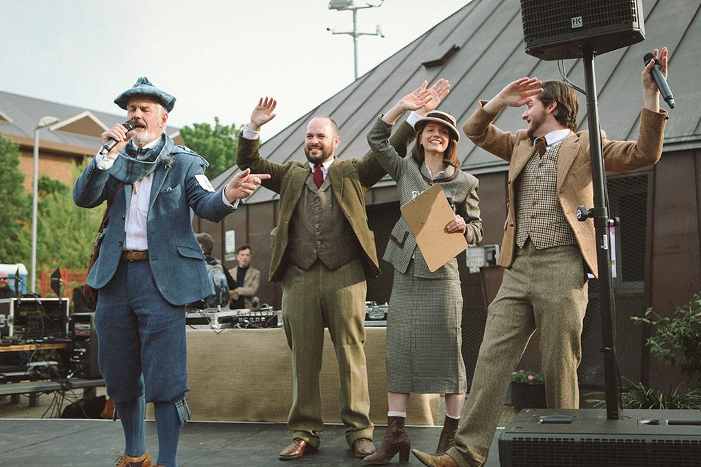 Best Dressed Gent breaks into song