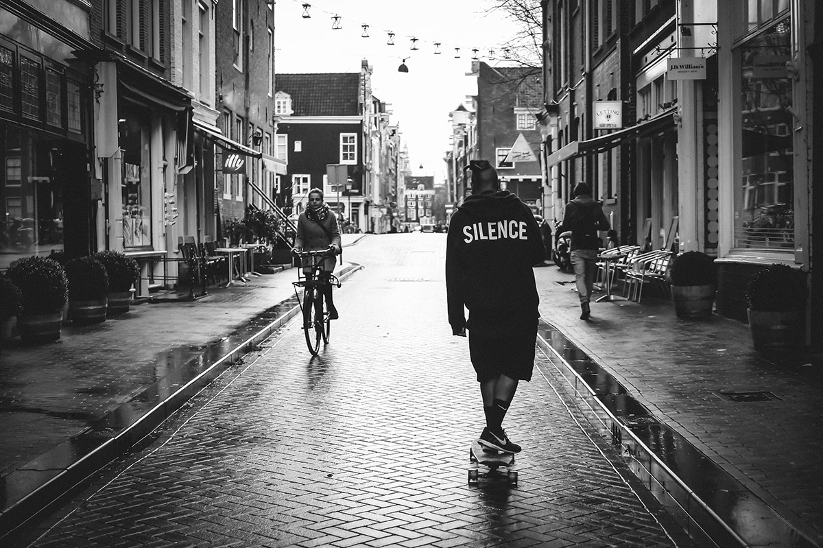 Silence   Bicycle Street Photography Amsterdam