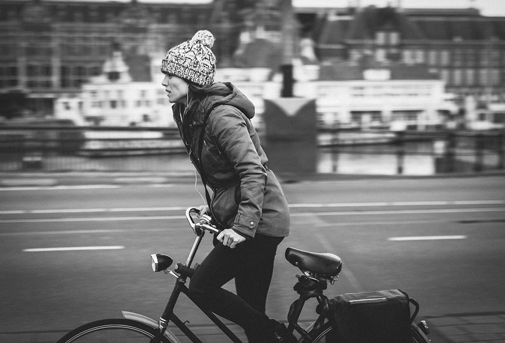 Push and Pull | Bicycle Street Photography Amsterdam