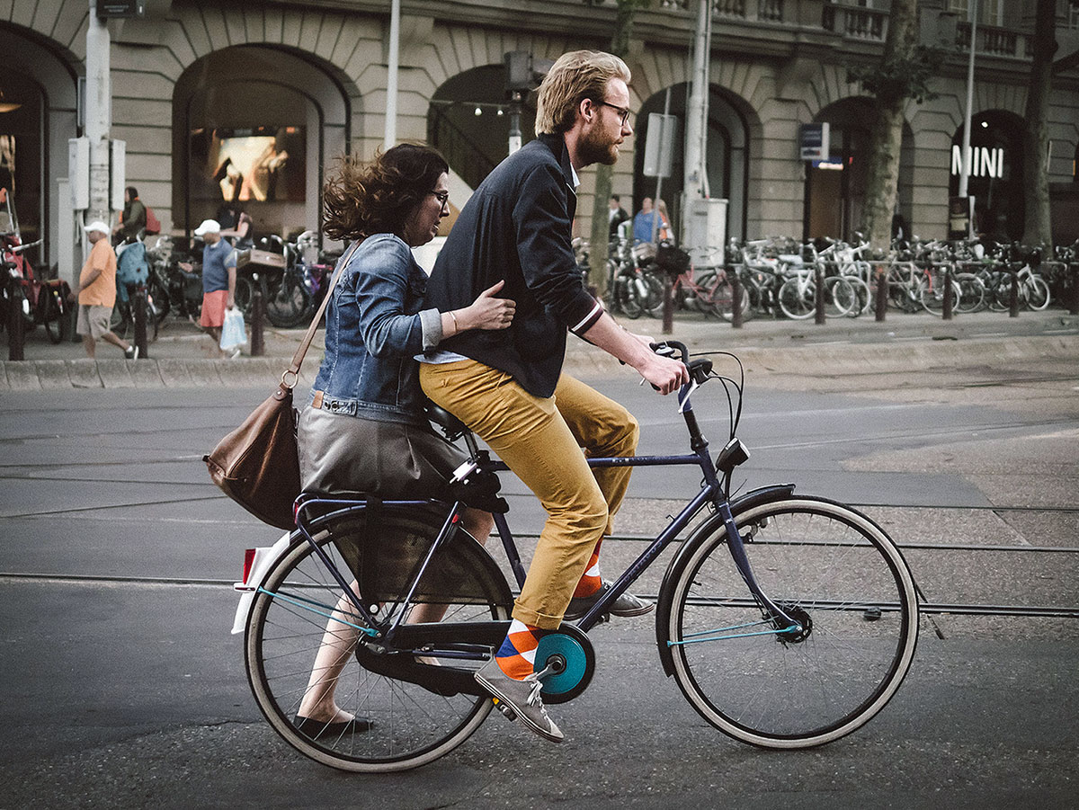 Carrying a Passenger in Amsterdam | The Side-saddle