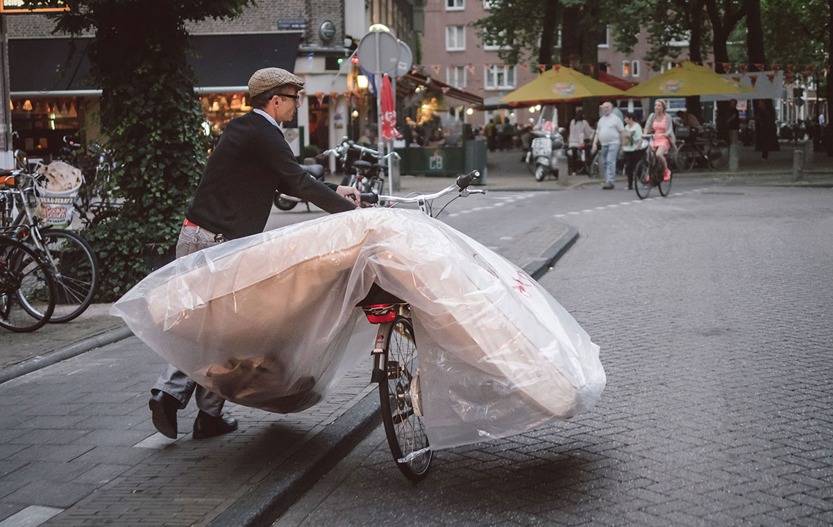 Moving a mattress in Amsterdam