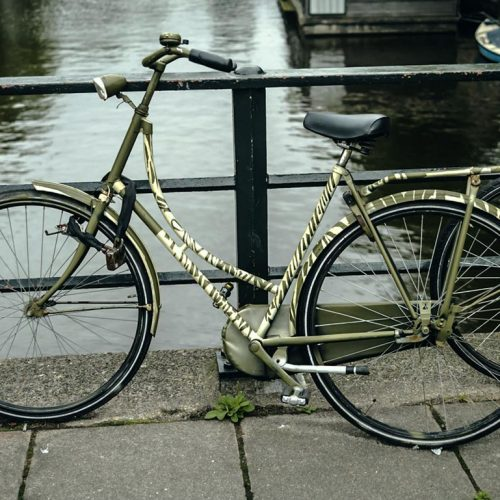 The painted bicycles of Amsterdam