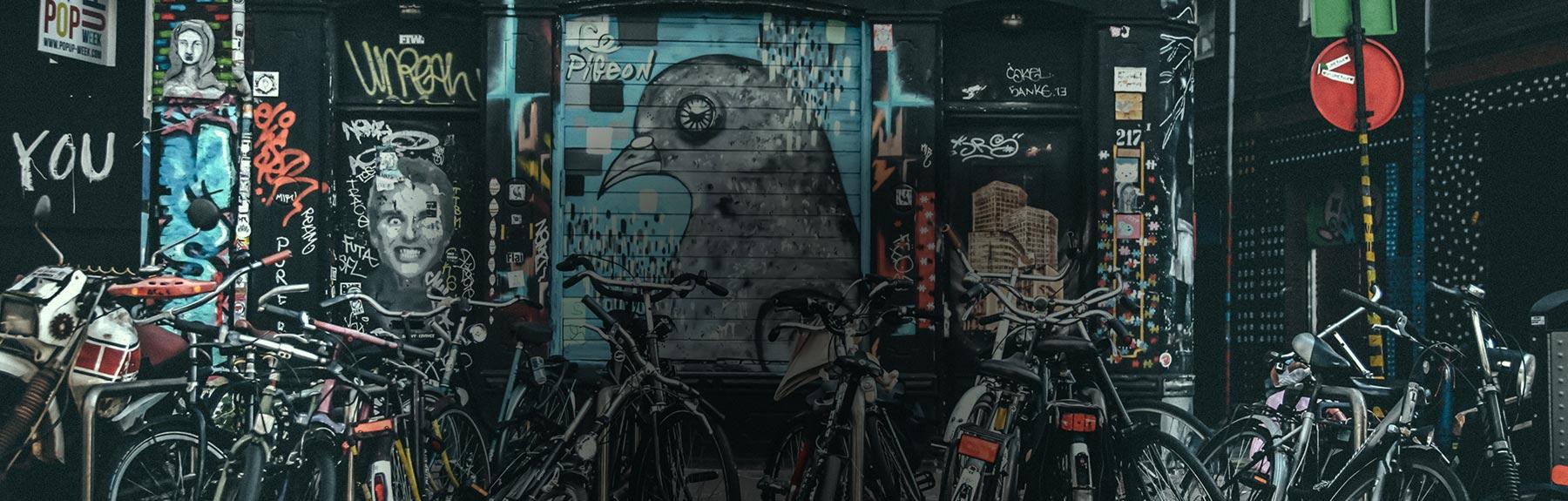Art or vandalism? The painted bikes of Amsterdam