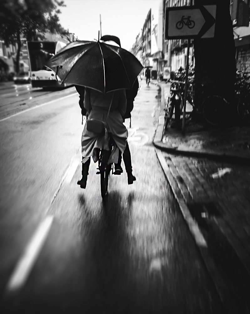 Double riding in the rain