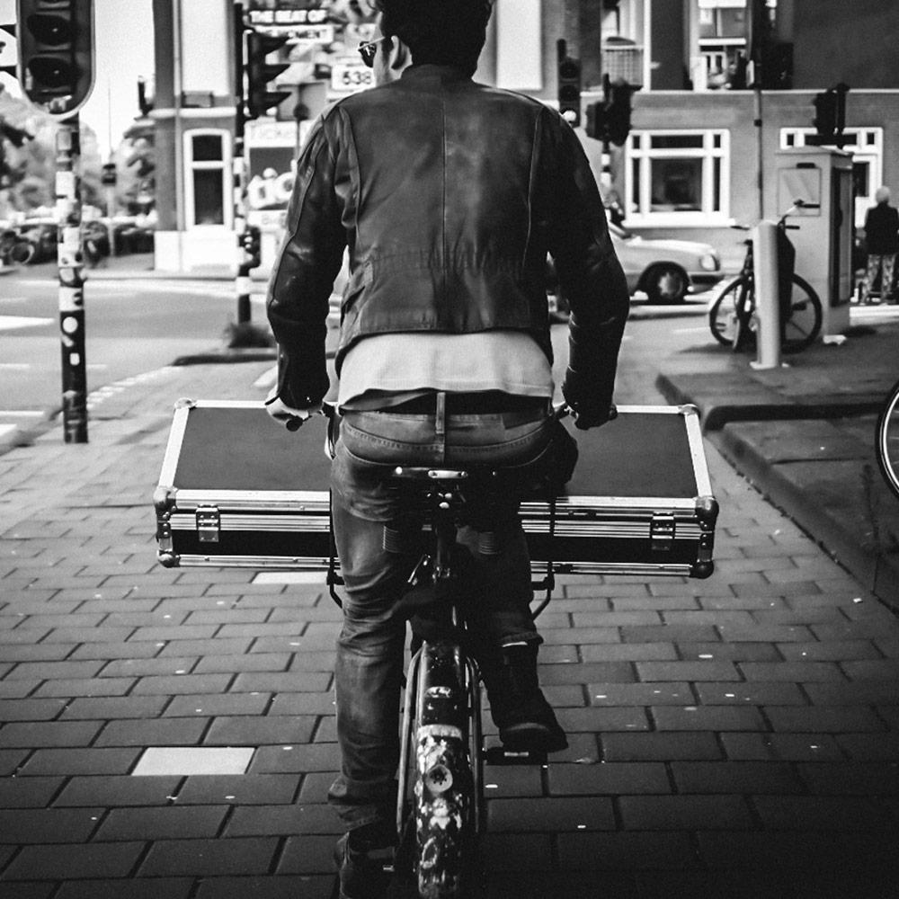 Wide load on bike