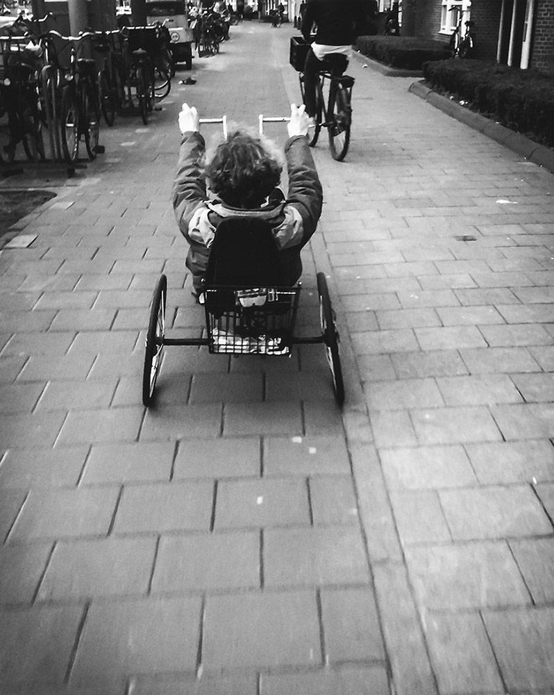 Hand powered bicycle