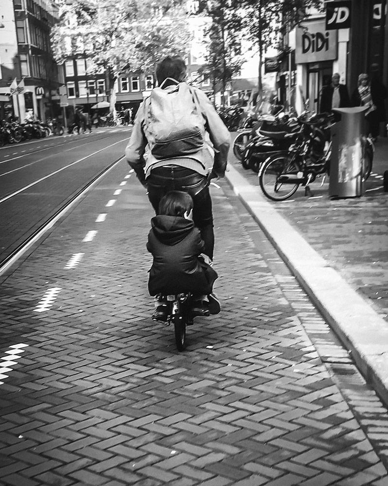 Double riding Brompton