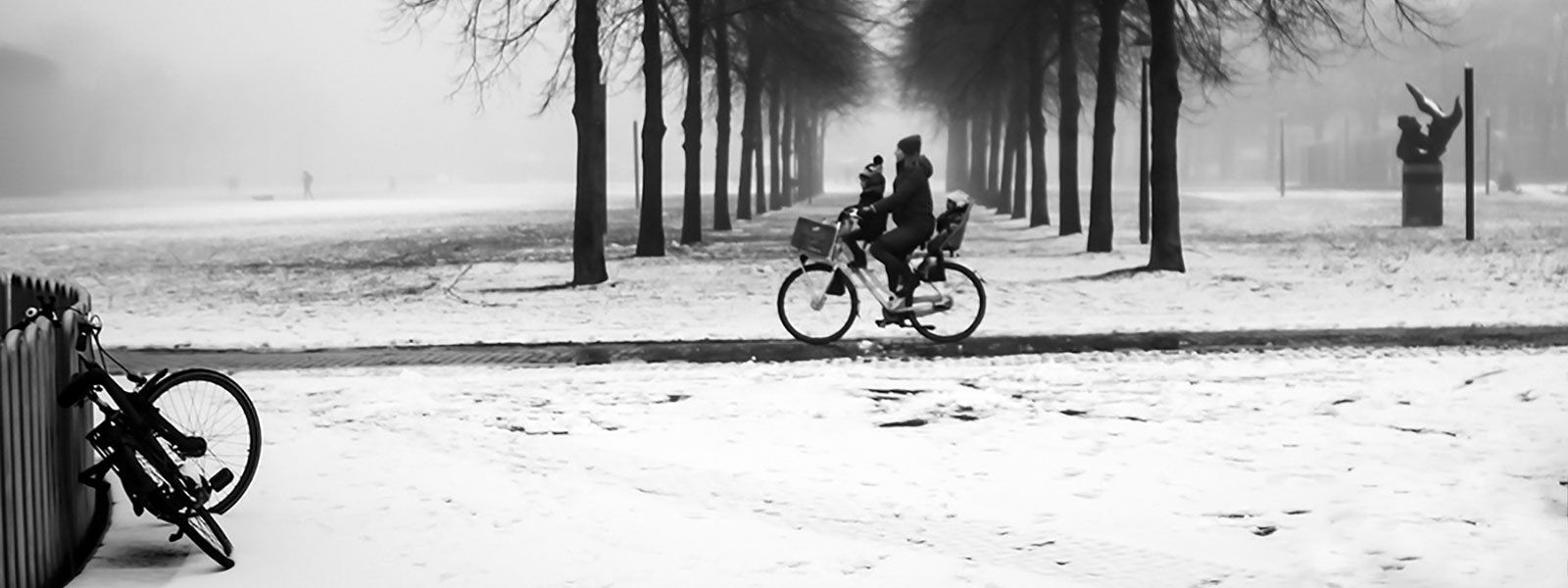 First snowfall in Amsterdam