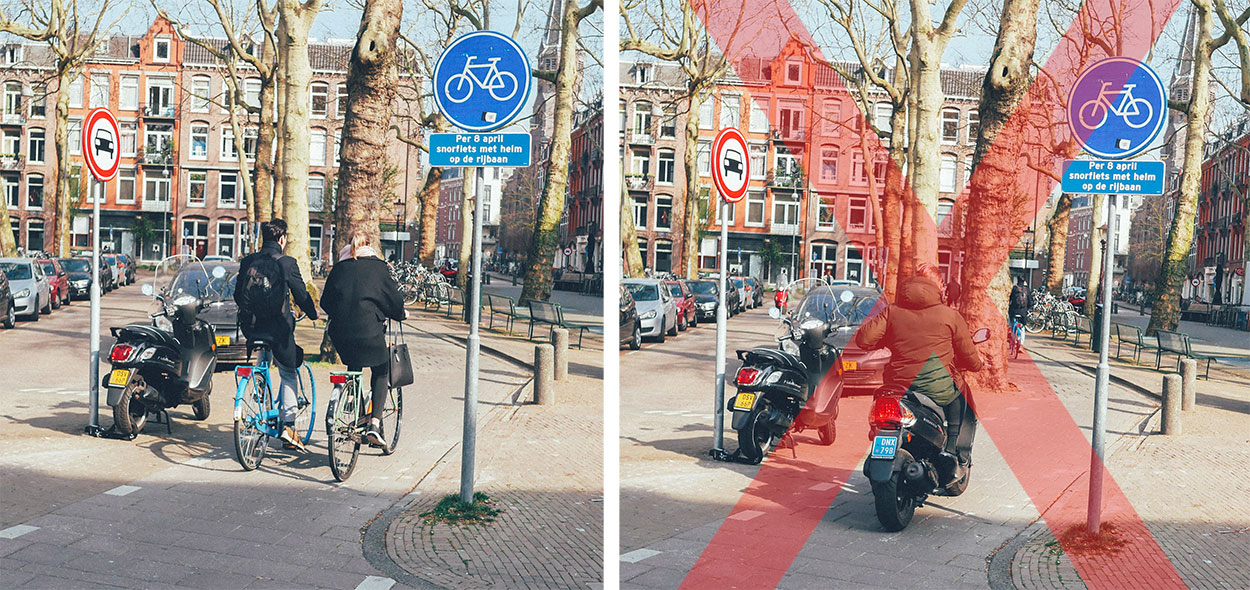Amsterdam bans scooters from bike path