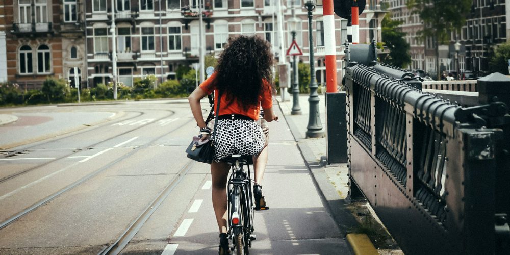 Dutch women on bicycles