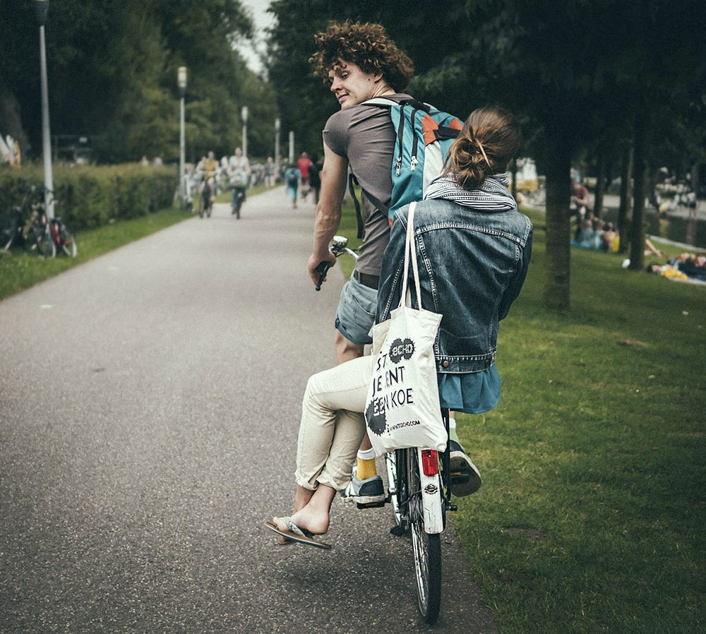 Double riding in Amsterdam