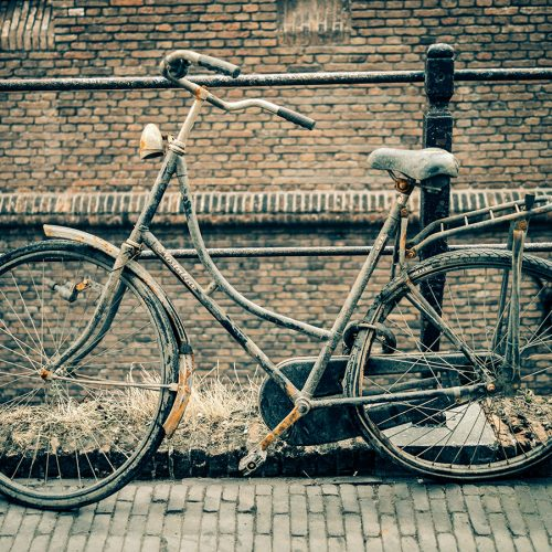 Canal bikes of Amsterdam