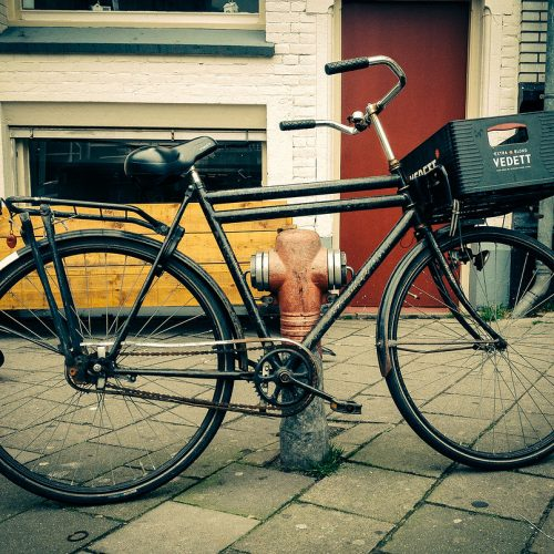 Dutch hipster bike in De Pijp