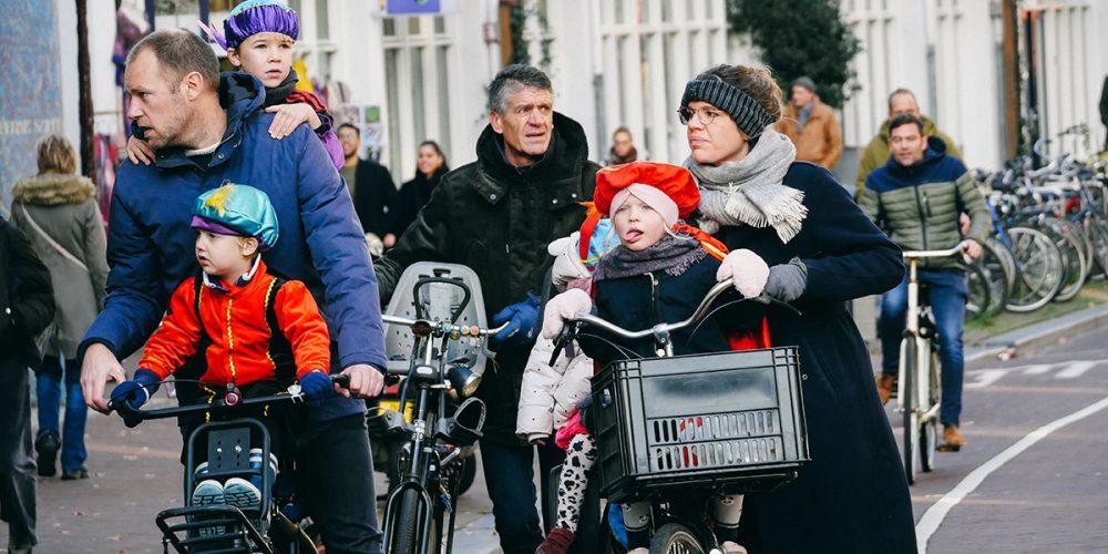 Riding to the Sinterklaas Parade