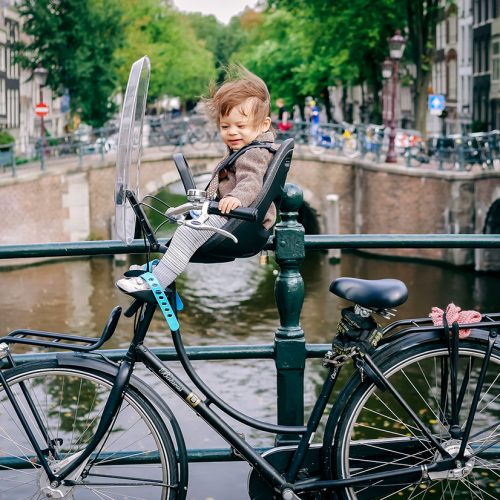 Child on a bike in Amsterdam