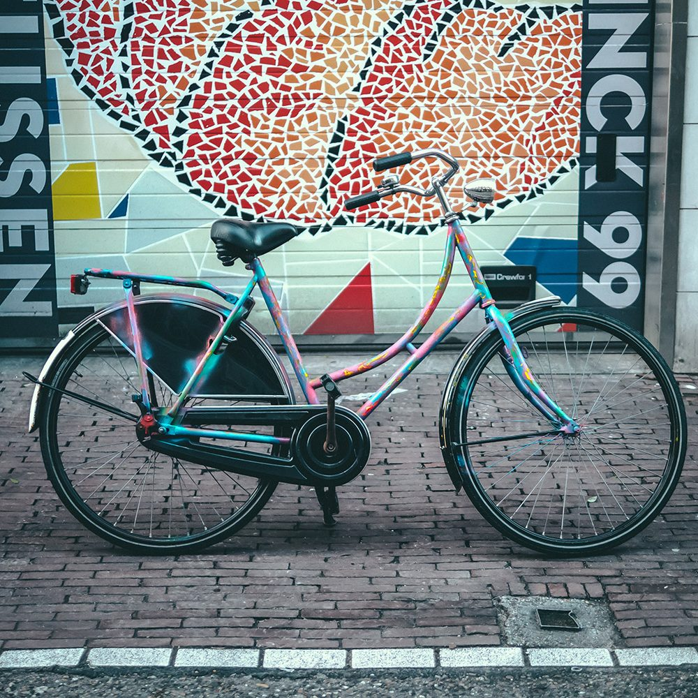 Painted bicycles of Amsterdam