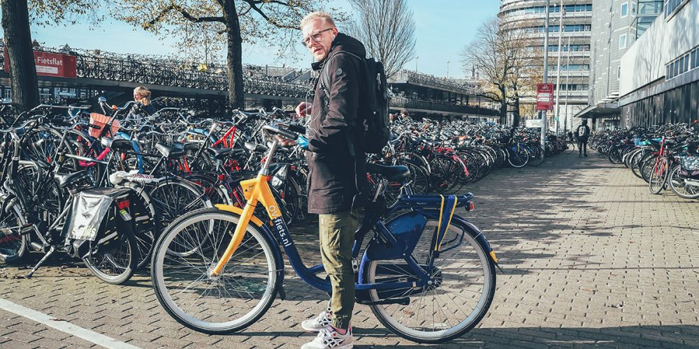 OV-fiets at Central station in Amsterdam
