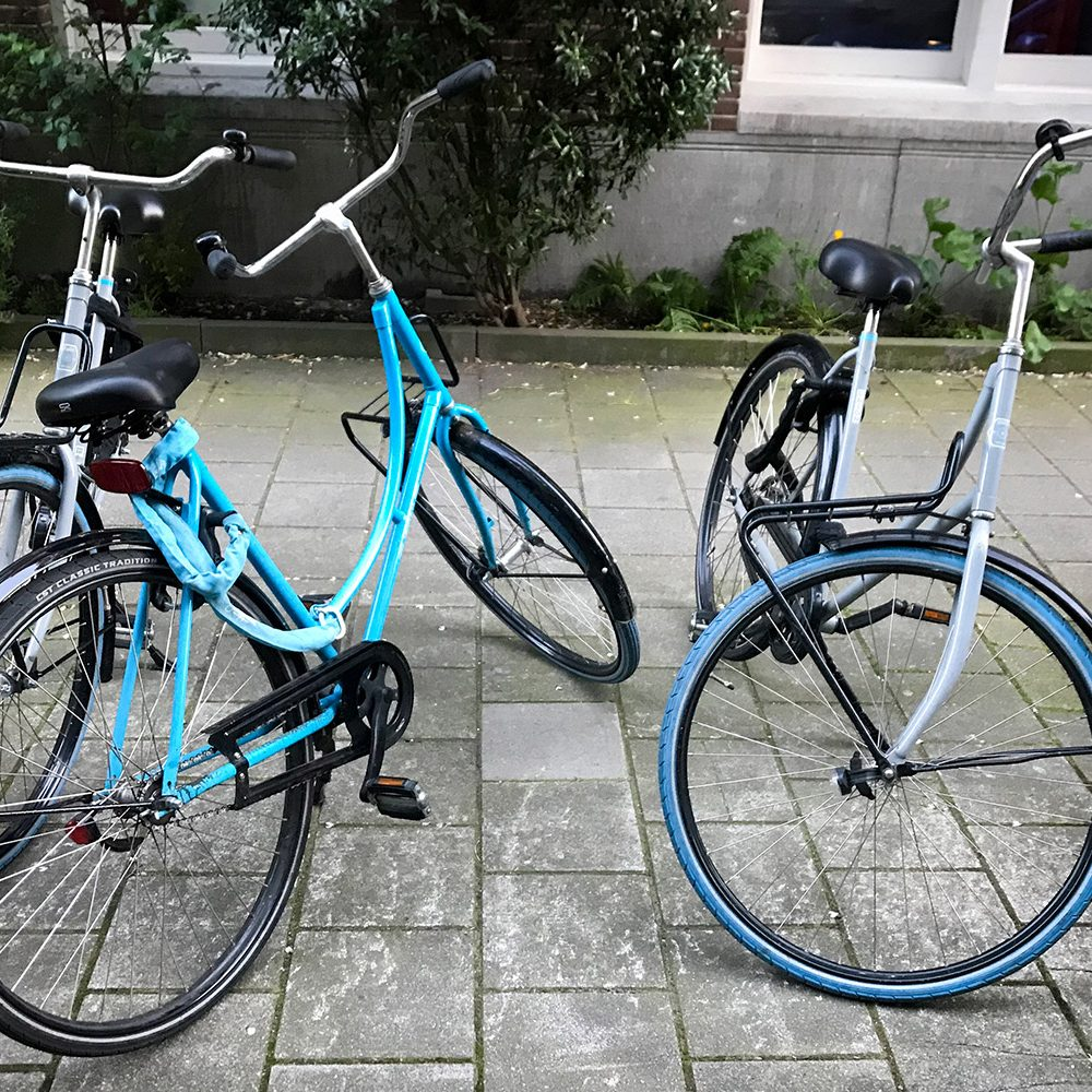 Swapfiets bicycles in Amsterdam