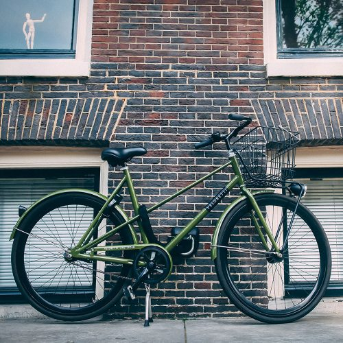 Green Veloretti womens Café racer bicycle