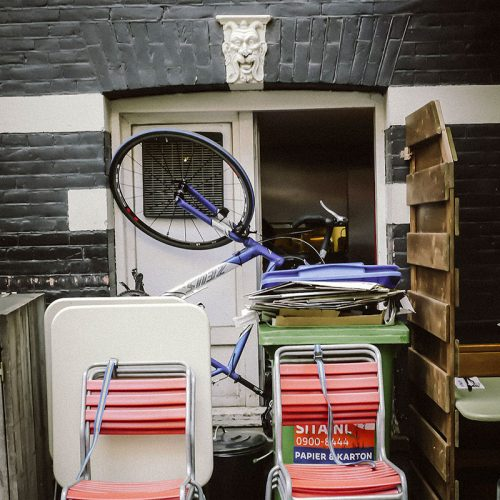 Unusual places to park a bike