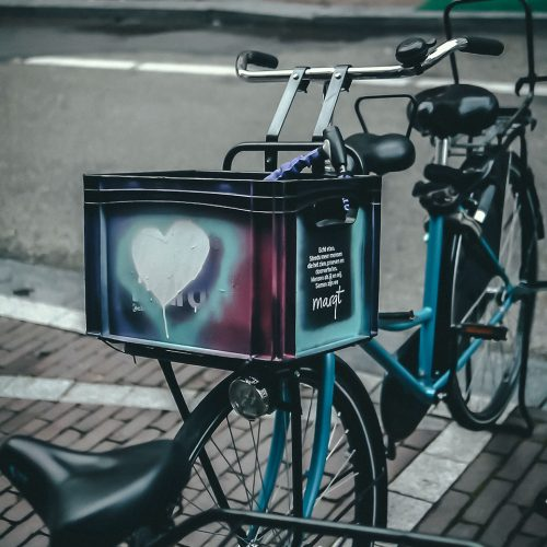 Marqt milk crate bike basket