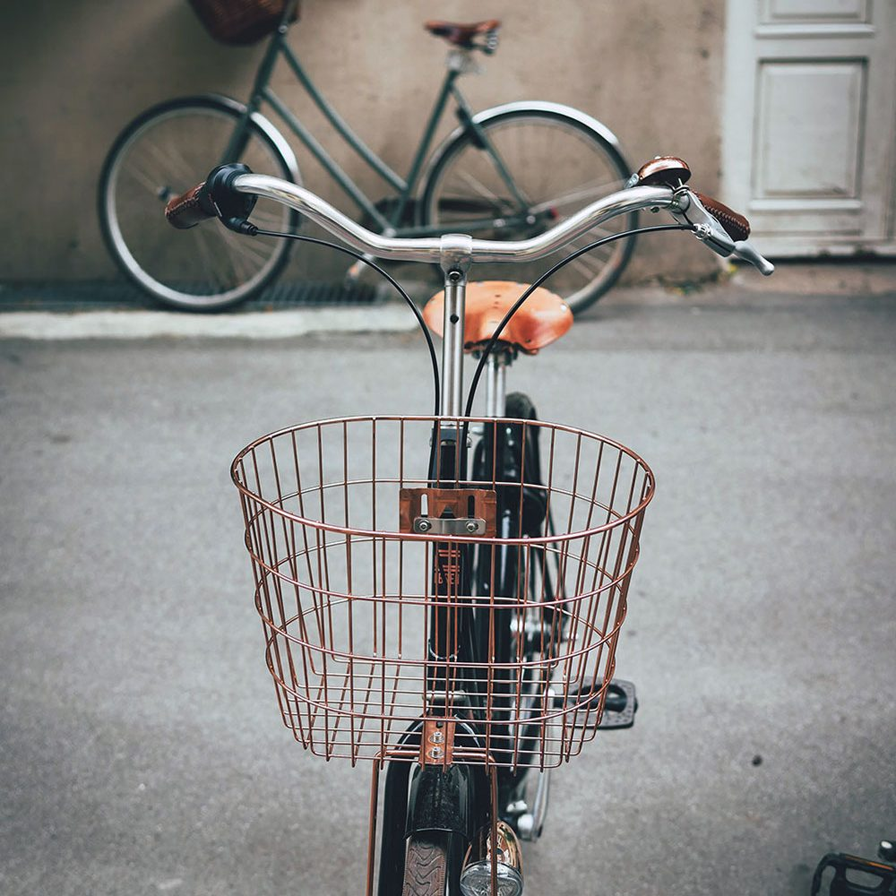 Copper steel Bicycle Basket