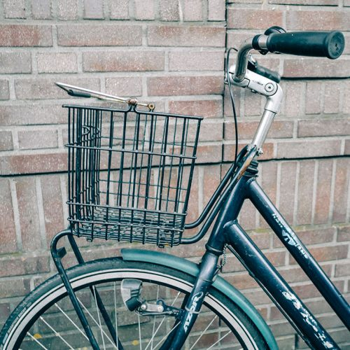Wire Bicycle basket with handle