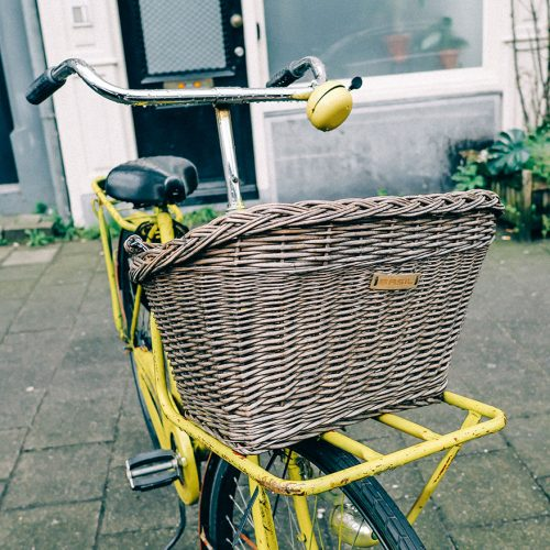 The Basil wicker bike basket