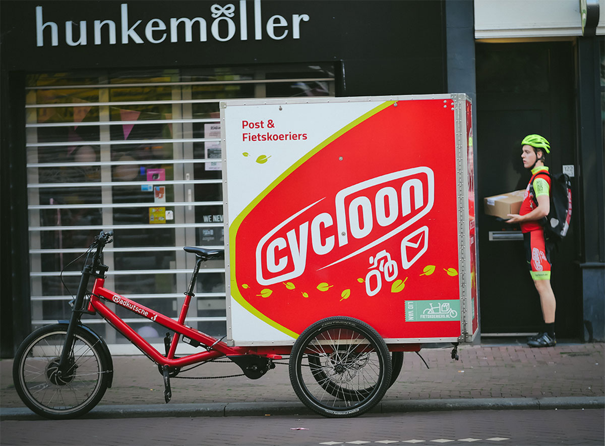 Delivery by Cycloon bicycle