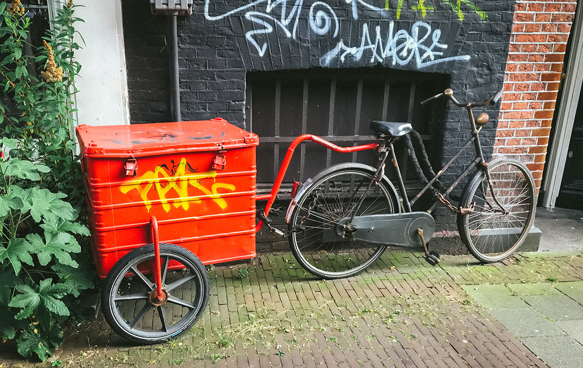 Bicycle with trailer