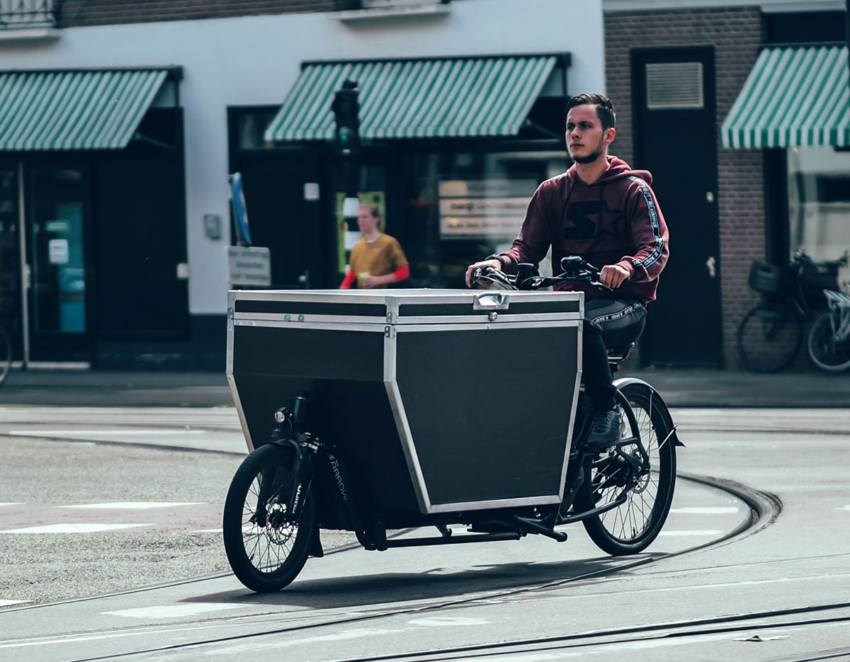 Urban Arrow cargo bike for commercial use