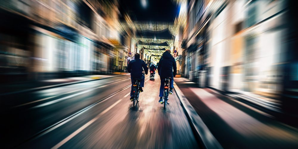 Riding down Utrechtsestraat